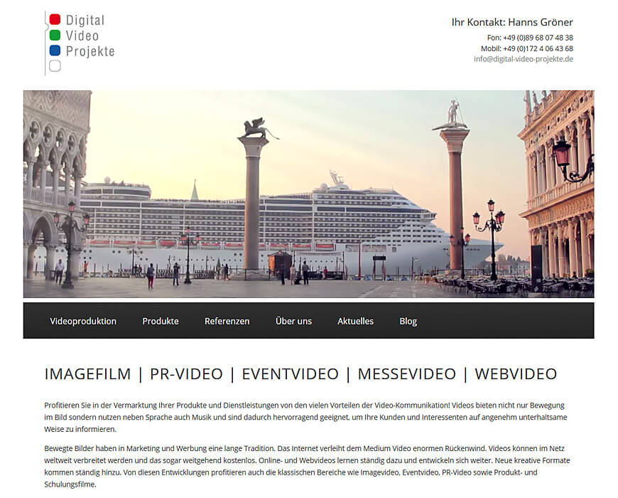 Website: Digital-Video-Projekte