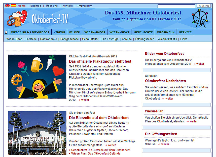 Website: Oktoberfest-TV